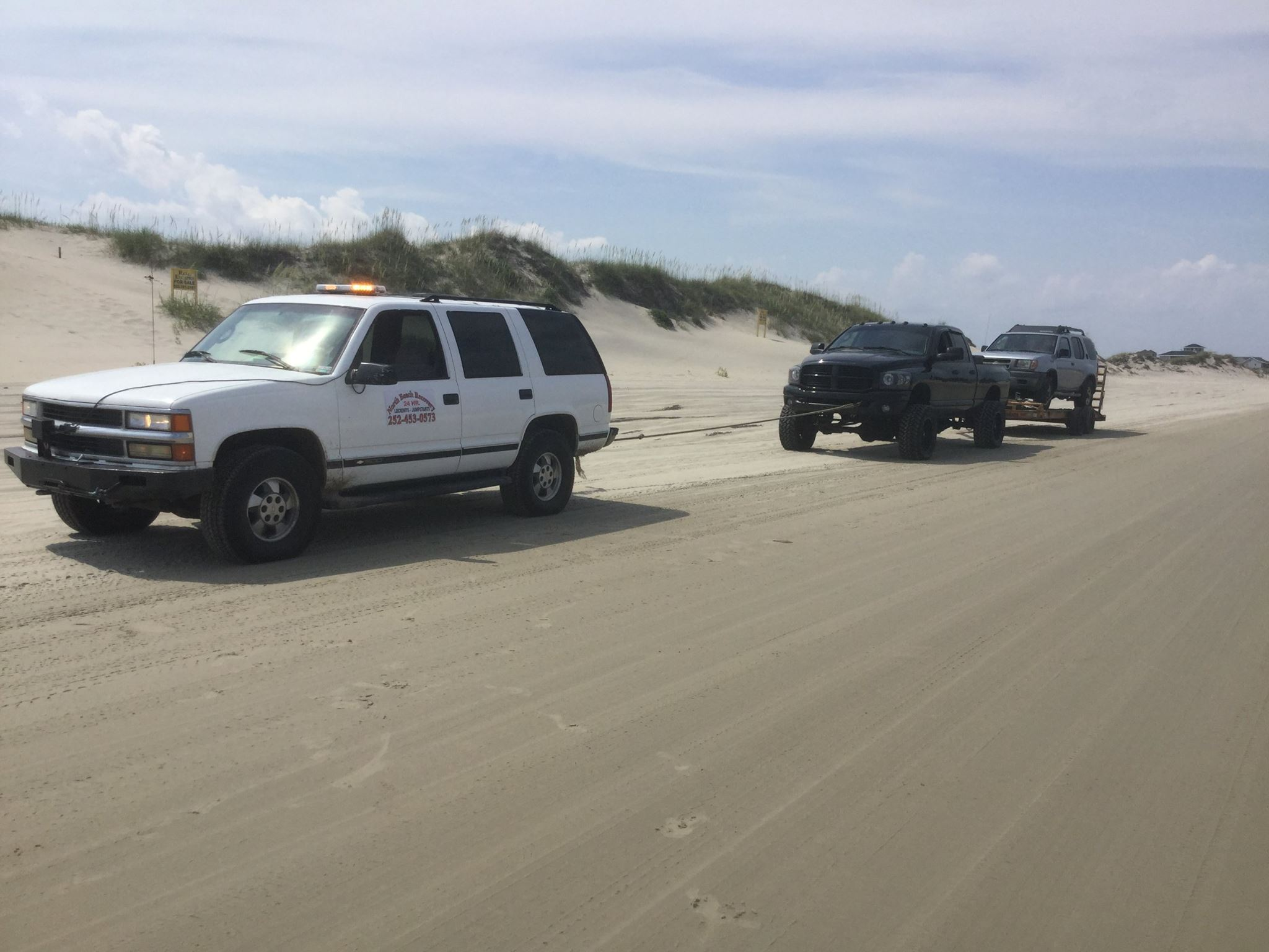 Beach Rescue service towing company stuck in sand Carova Corolla North Beach OBX